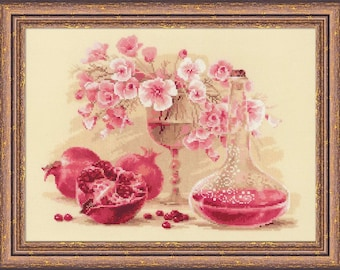 Pink Pomegranate - Cross Stitch Kit from RIOLIS Ref. no.:1618