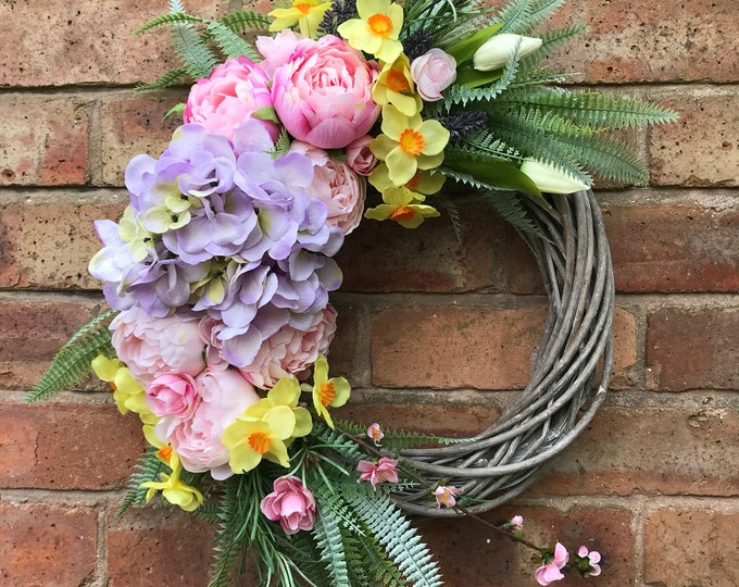 Peony Spring wreath