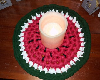 Below flat watermelon t shirt yarn crochet