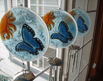 Design your own Cremation Butterfly Windchime Memorial Pet Cremation