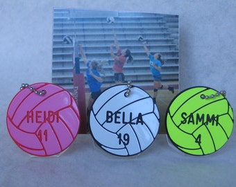 Personalized Phone Volleyball Gift  /  Volleyball Bag Tags  /  Volleyball Team Gifts