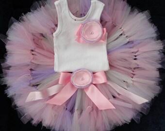 Pink Peony Birthday Dress | Pink Baby Tutu | Strawberrie Rose