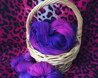 Hand dyed sock yarn 4 ply