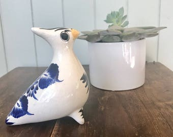Vintage Mexican Clay Bird/ Mexican Folk Art