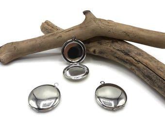 Door Photo round silver pendant - Locket door photo - A113-5