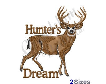 Hunters Dream Buck Deer - Machine Embroidery Design
