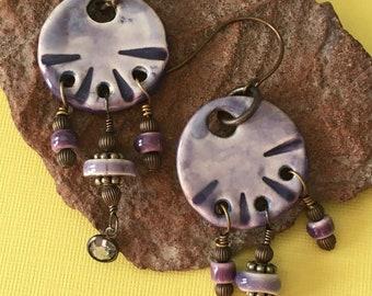 Artisan ceramic earrings