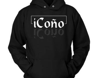 iCono Funny Spanish Bilingual Puerto Rico Hoodie