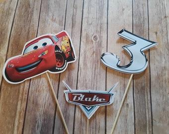 Cars Lighting McQueen Centerpiece, Cars 1, Cars 2, Cars 3, Mater, Race Car, Racer, Race Track, Racing, Radiator Springs