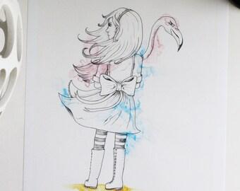 Original print Alice in Wonderland