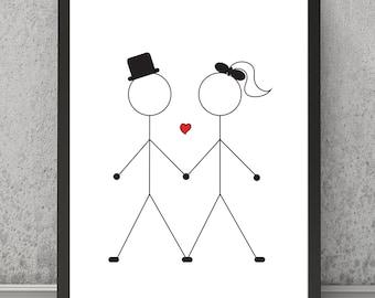 Love print, Love art, Love poster, Love, romantic gift, gift for him, gift for her, wedding gift, anniversary gift, valentine gift