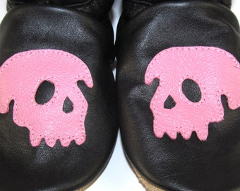 Soft Sole Leather Skulls Baby Shoes 18 to 24 Month Eco Friendly