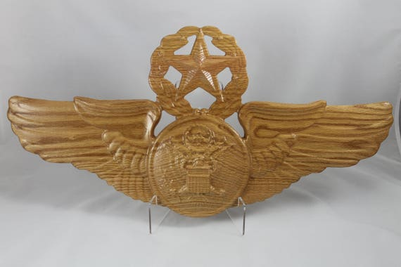 USAF Enlisted Master Aircrew, Aviation art, Aircrew wings, Usaf plaque, wooden wings, USAF Wings, US Airforce Wing, Aircrew Badge, Aviation