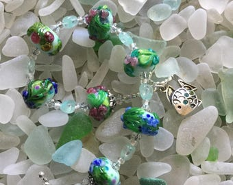 Bracelet #2 Lampwork Bracelet Artisan Beads Lampwork Beads