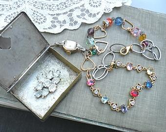 religious necklace assemblage Catholic trinket treasure Reliquary box upcycled watch case jewelry
