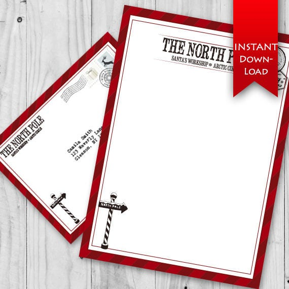 on sale north pole stationary set holiday elf letter