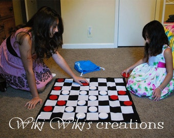 Giant Checkers Game With Bag