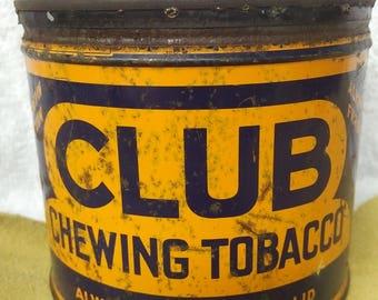 Vintage Club Chewing Tobacco tin
