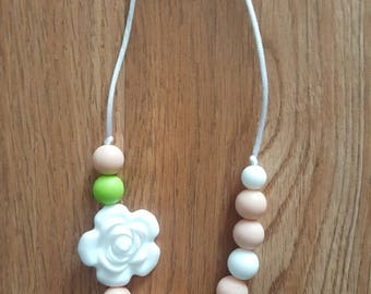 White Blossom Chewable Necklace