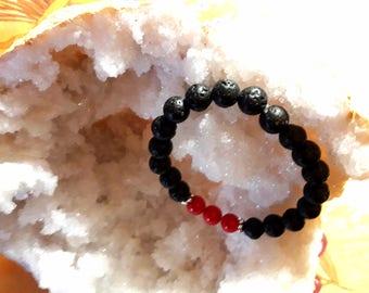 Barcelet 7 chakras of lava stone