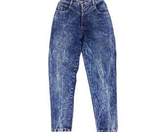 Vintage Mom Jeans 25, High Waisted Jeans, Acid Wash Jeans, 80s Jeans, High Waist Jeans, Tapered Leg Jeans, Audi Jeans, SIZE 25 x 27