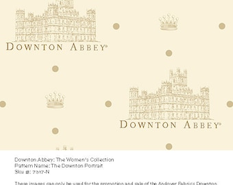 Fat Quarter of Downton Abbey Portrait Fabric by Andover