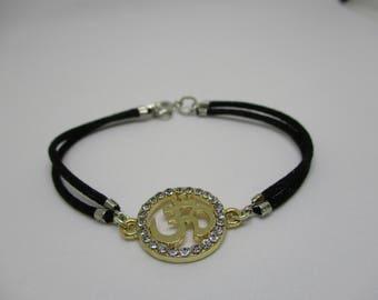 Nylon Cord Om Bracelet