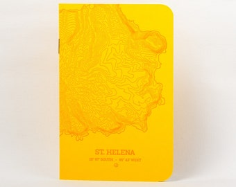 Sta. Helena Island Letterpress Notebook Yellow - Pack of 3