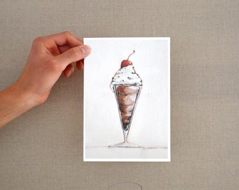 Ice cream art print, Ice cream print, print illustration, kitchen wall print, ice cream digital print, ice cream art, art print, food print