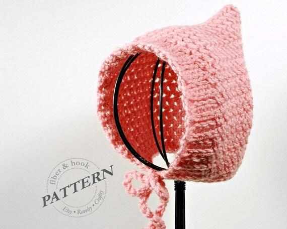 Crochet pattern ribbed edge baby pixie bonnet pattern baby crochet pattern ribbed edge baby pixie bonnet pattern baby pixie hat pattern easy pixie bonnet pattern 0 to 24 month sizes pdf 009p dt1010fo