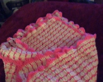 Baby Blanket White and Pink