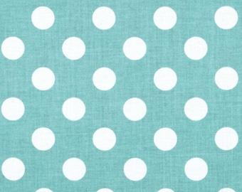 Medium Dots Aqua, Riley Blake Quilting Fabric, Aqua Polka Dot