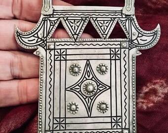 Old SILVER Berber Pendant from S Morroco