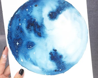 Blue Moon painting •
