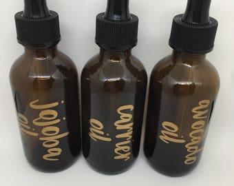Essential Oil Carrier Labels for a 2oz. (bottles not included)