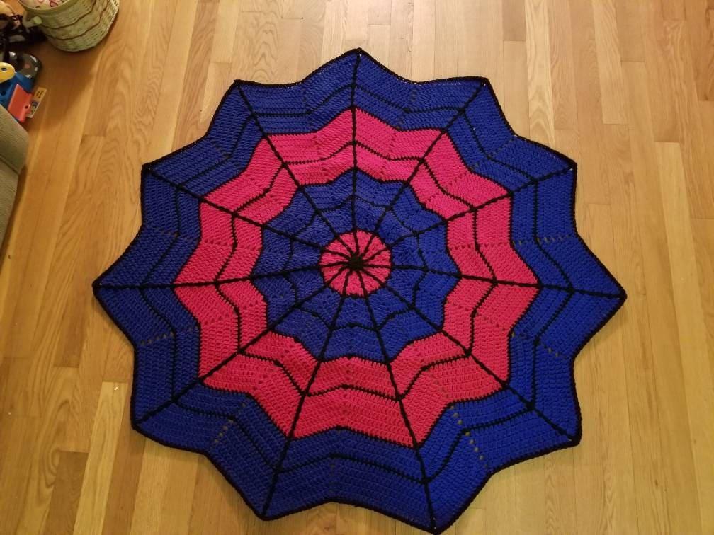 Crochet Spiderman Blanket