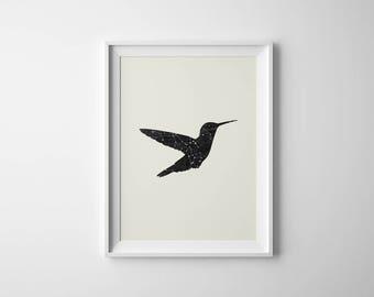 Hummingbird Print | Hummingbird Wall Art | Bird Constellation | Bird Printable | Home Decor