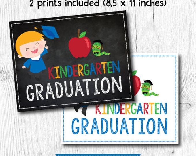 Preschool graduation sign, Last day of kindergarten sign, Last day of Preschool sign, 2 prints included, Digital files, Instant download