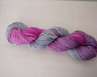 Hand dyed wool merino pink-Elephant