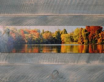 "12"" x 36"" Custom Solid Wood Panorama Photo Print"