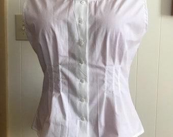 "1860s Victorian Civil War Corset Cover waist 31"" to 33"""