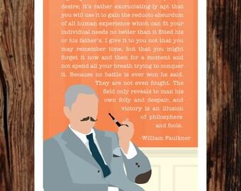 William Faulkner 5x7 Giclee Print