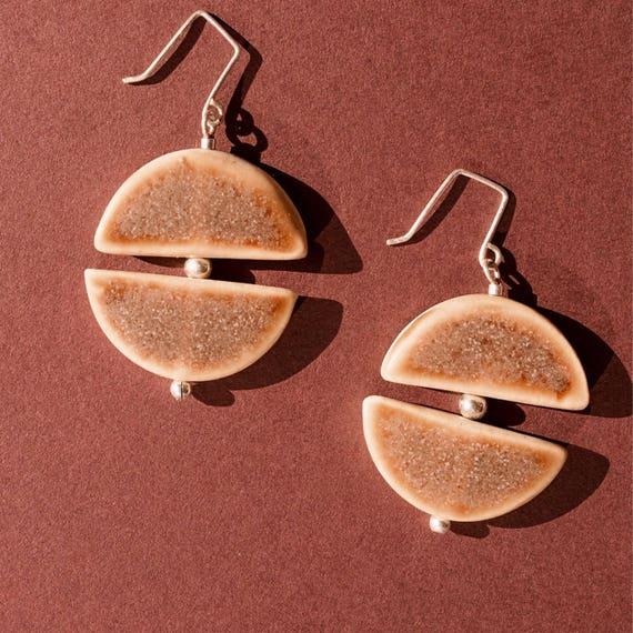 Sandstone Arch-form Earrings