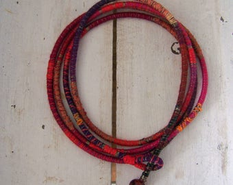 Wire cord necklace 8
