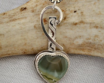 Royal Imperial jasper heart pendant.  Reduced for Valentines day.
