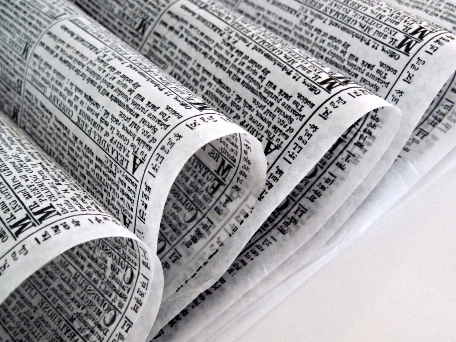 Sandwich Wrapping Paper : Wax paper sheets newsprint black white deli