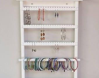 Wall Mount Jewelry Organizer Earring Holder Bracelets