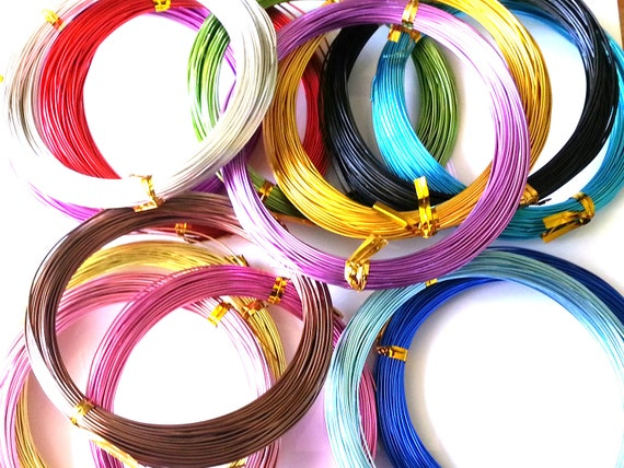 Aluminium wire 08mm 20 gauge wire 20 metres assorted like this item keyboard keysfo Images