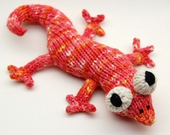 Eddie Lizzard Amigurumi Plush Toy Knitting Pattern PDF Digital Download