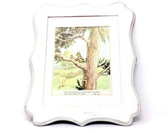 6x9 Vintage WiNNiE The POOH TiGGeR & Too STuCK in the TREE! Nursery Book Plate Print, A. A. Milne Ernest Shepard